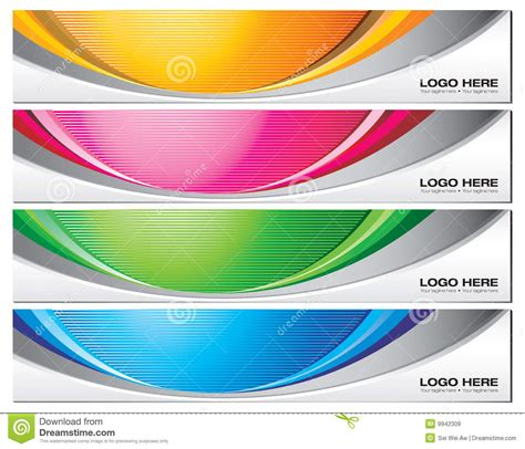 Free Header Templates by Banner Templates Stock Vector Illustration Of Vector