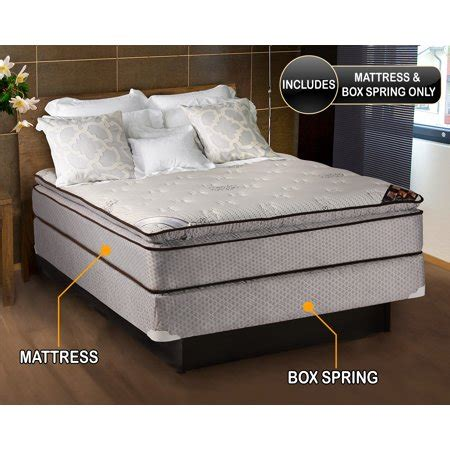 size mattress and boxspring set spinal comfort pillowtop size mattress box set