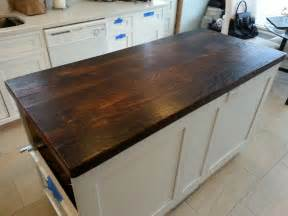 kitchen island wood top reclaimed wood countertop walnut i want to use my attic floor boards and do this for my new