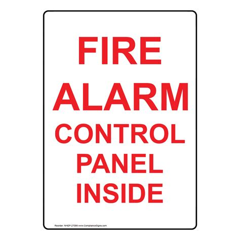 Portrait Fire Alarm Control Panel Inside Sign Nhep27099. March 12th Signs. Evidence Signs Of Stroke. Tagalog Signs Of Stroke. Similar Signs. Lion Star Signs. Swab Signs. Bar Menu Signs. Goals Signs