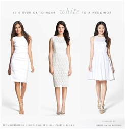 what to wear a wedding dress can i wear white to a wedding