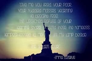 Immigration Quo... Emma Lazarus Famous Quotes