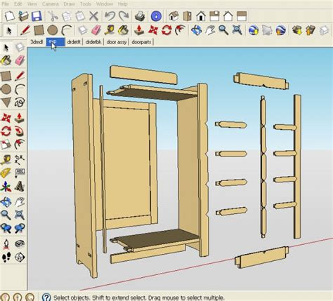 sketchup woodworking plans    digitalize plans
