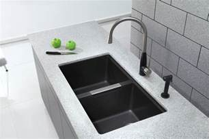 Black Granite Undermount Kitchen Sink