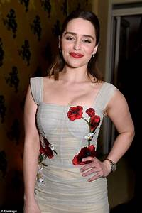 Amazon Dolce Light Blue Emilia Clarke Wears A Sheer Floral Dress For Hbo 39 S Golden
