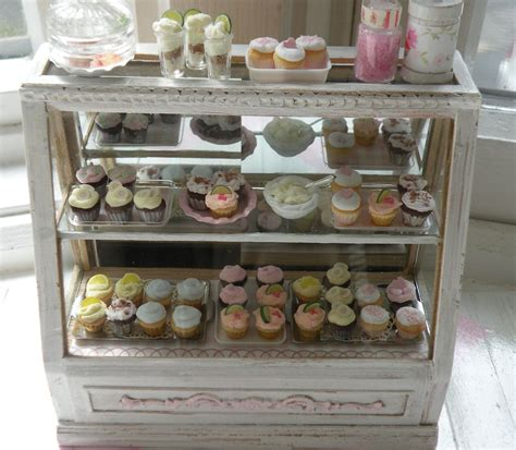 Miniature Stunning Shabby Chic Bakery Counter Small