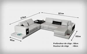 Canap D39angle Design Panoramique En Cuir Arezzo XXL Pop Designfr