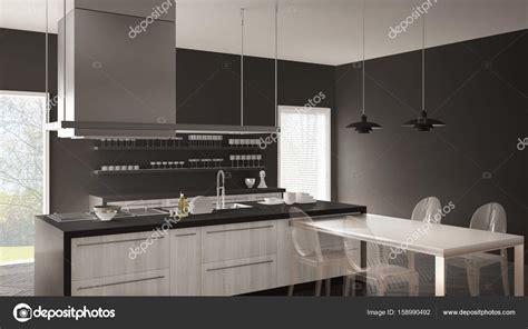 cuisine avec sol parquet cuisine moderne minimaliste avec table chaises et parquet