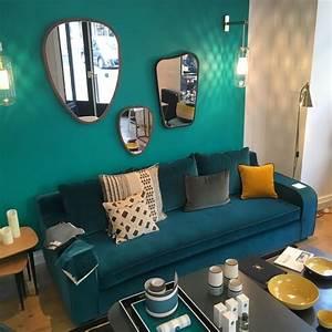 deco bleu canard idees et inspiration clem around the With couleur tendance peinture salon 13 inspirations deco en vert fonce joli place