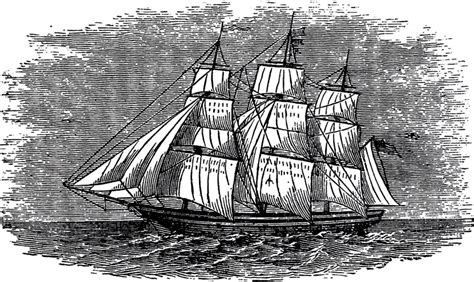 antique ship engraving  graphics fairy