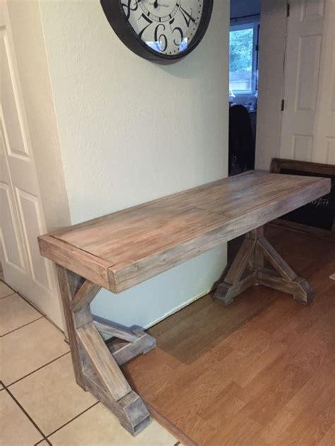 diy desk   faux restoration hardware finish