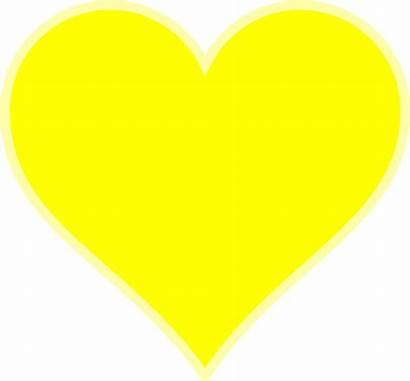 Yellow Heart Transparent Background Single Clip Clipart
