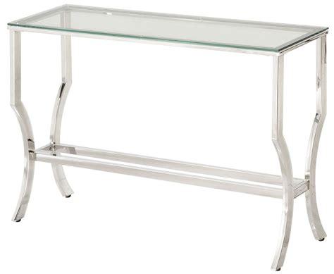 glass and chrome sofa table chrome and tempered glass sofa table 720339 coaster