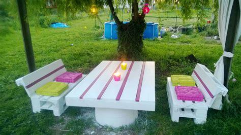 salon de jardin palette dunlopillo pallets garden set salon de jardin en palettes 1001