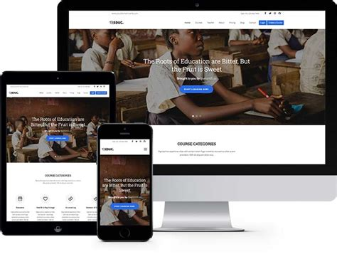 Education Free Html5 Bootstrap Template Elearning School