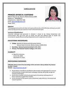 Job resume resume cv for Example of cv for job