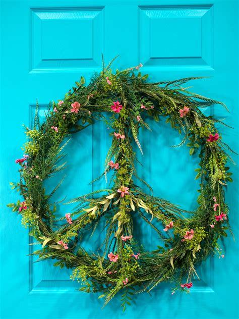 peace sign wreath hgtv