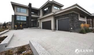 custom houses contemporary exterior edmonton by kanvi homes