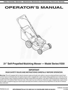Mtd 12av55dq713 User Manual Lawn Mower Manuals And Guides