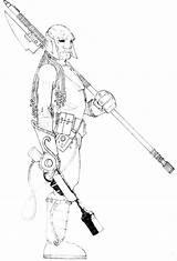 Coloring Hunter Fantasy sketch template