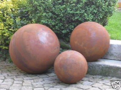 Garten Deko Kugel Rost by Edelrost Kugeln Rost Eisen Metall Garten Deko Rosenkugel