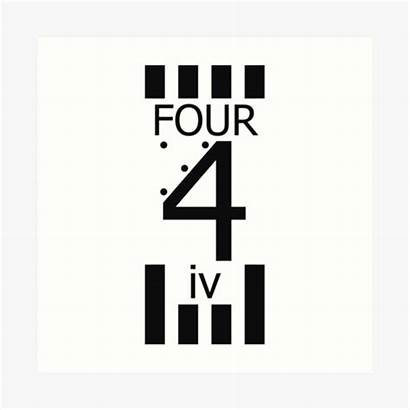 Roman Numeral Iv Number Prints Four Redbubble