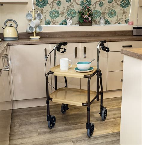 Height Adjustable Kitchen Trolley with Brakes - Suitable ...