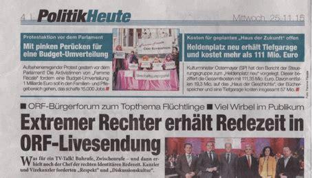 buergerforum im orf eine gratiszeitung heute
