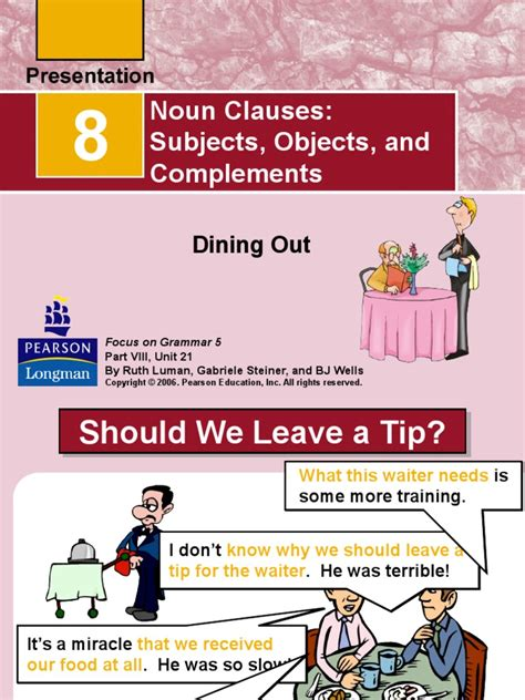 Next, it follows a linking. noun clauses powerpoint   Clause   Noun