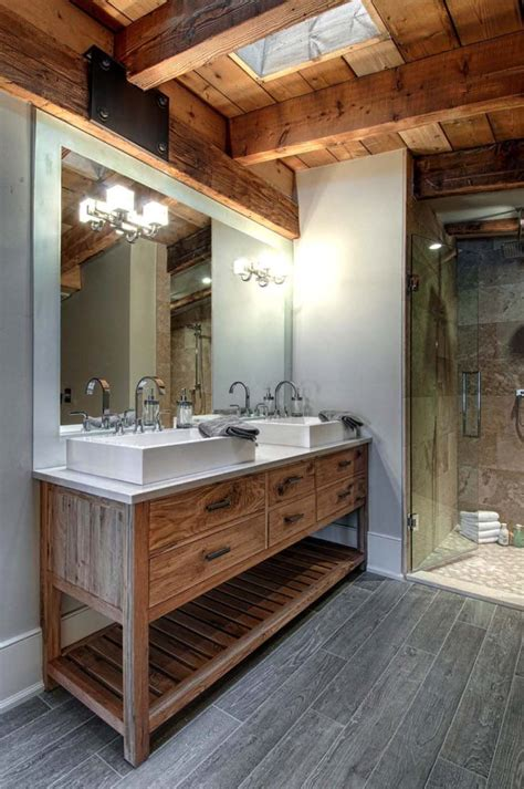 Modern Rustic Bathroom Design by Luxury Canadian Home Reveals Splendid Rustic Modern