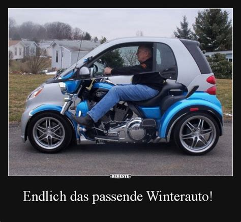 endlich das passende winterauto lustige bilder sprueche