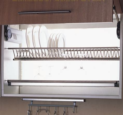 cabinet drying rack 80cm wall kitchen cabinet cupboard 2 tier 304 stainless