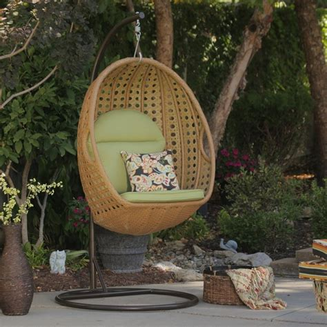 jubilee all weather wicker hanging chair modern