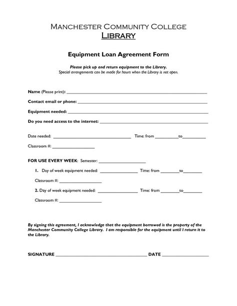 printable sample loan agreement form form laywers