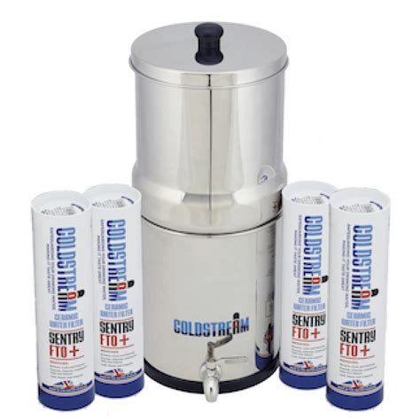 Coldstream Sentry Gravity Water Filter System   4 Filters