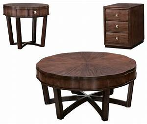 american drew miramar 3 piece round coffee table set in With 3 piece round coffee table set