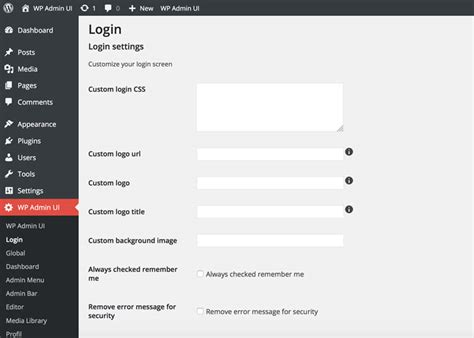 Wordpress Plugin For Advanced Customizable Login Page