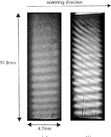 The interference patterns when scanning the interferometer ...
