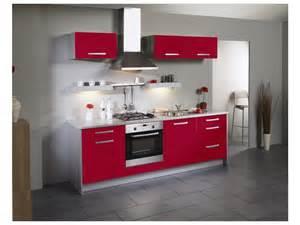 meuble cuisine rouge homeandgarden