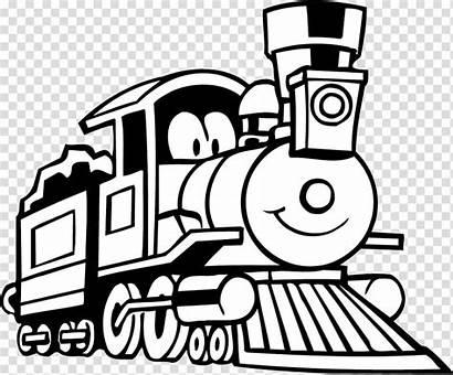 Train Rail Monorail Coloring Clipart Transport Coal