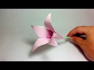 Origami lily youtube origami flower lily 100th video youtube mightylinksfo