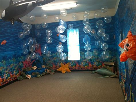 Underwater Decorations - room vbs how to make this a swimming pool