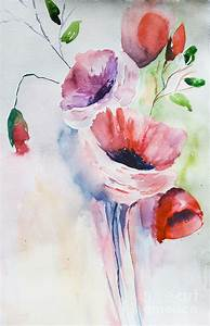 Beautiful Flowers Painting by Regina Jershova