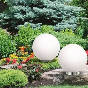 Lampe Extérieure Solaire : lampe boule 30 cm led solaire x2 eclairage et d coration ext rieure ~ Teatrodelosmanantiales.com Idées de Décoration