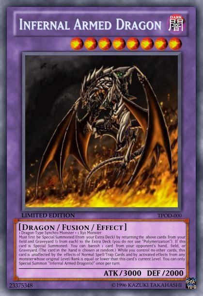 infernal armed dragon advanced card design yugioh card