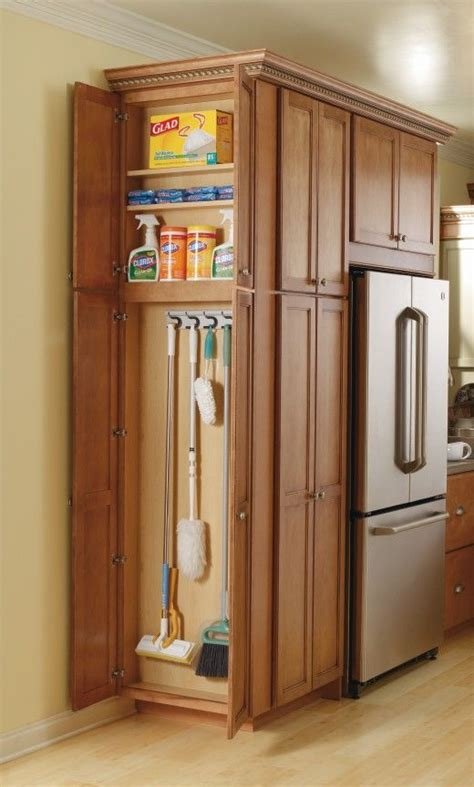 Kitchen Pantry Storage Cabinet Broom Closet  Woodworking