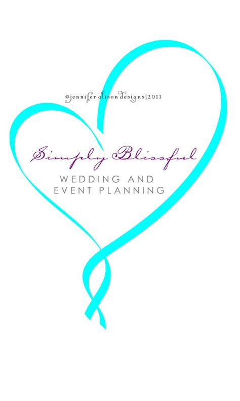 This business logo for a wedding planner uses delicate