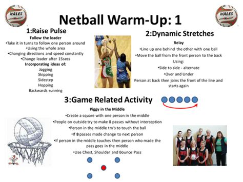 netball warm up cards by katieharry24 teaching resources