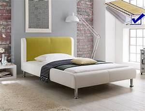 Bett 160x200 Mit Lattenrost : polsterbett falo 160x200 cremewei gr n mit lattenrost matratze bett wohnbereiche schlafzimmer ~ Pilothousefishingboats.com Haus und Dekorationen