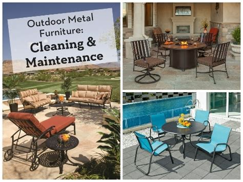 Metal Patio Furniture Cleaner by Outdoor Metal Furniture Cleaning And Maintenance